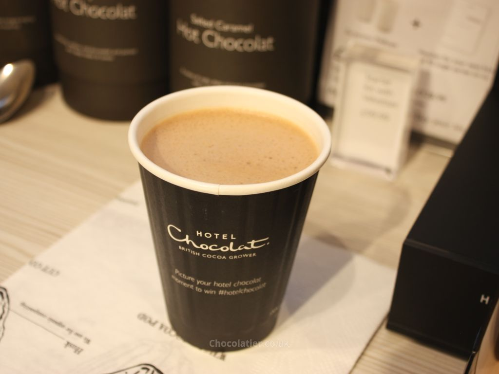 A cup of Velvetiser hot chocolate