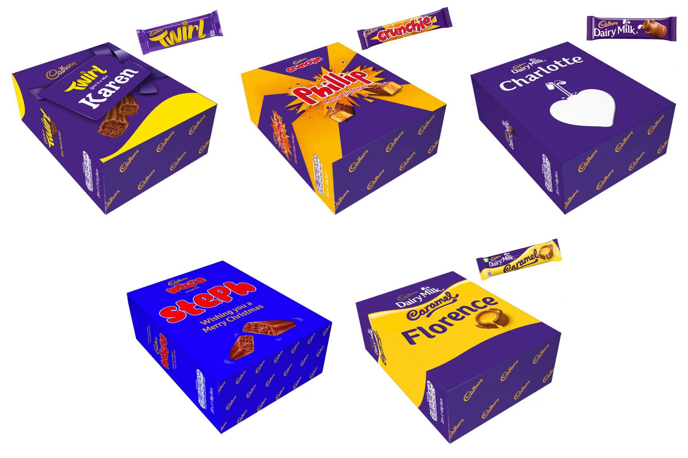 Personalised Cadbury Chocolate Boxes
