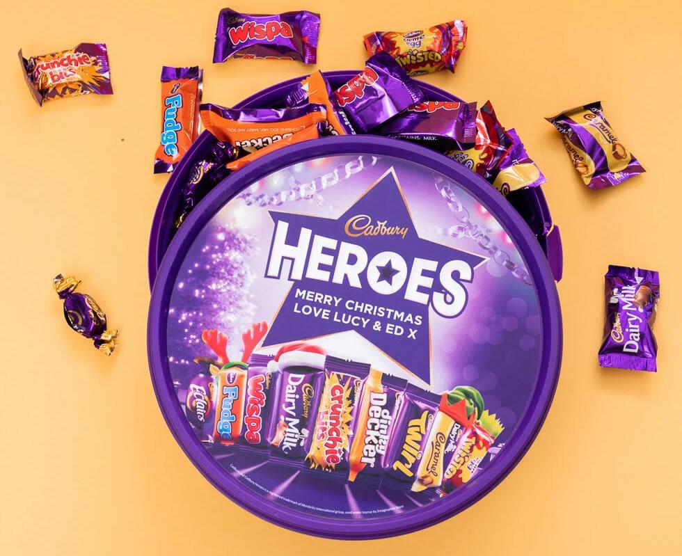 Personalised Cadbury Minature Heroes Tub
