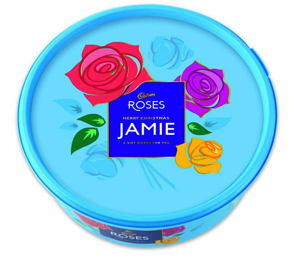 Personalised Cadbury Roses Tub