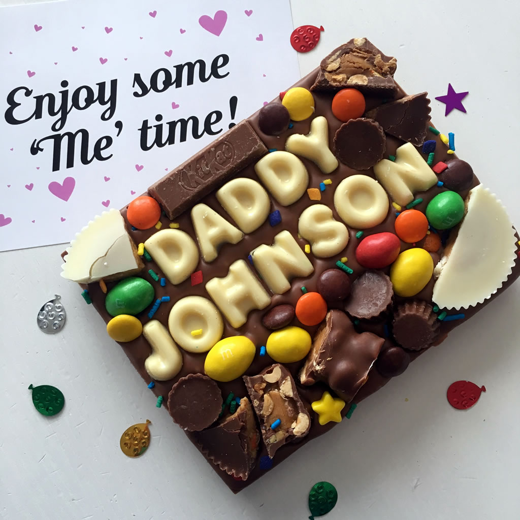 The Candylicious Company Personalised Chocolate Slab