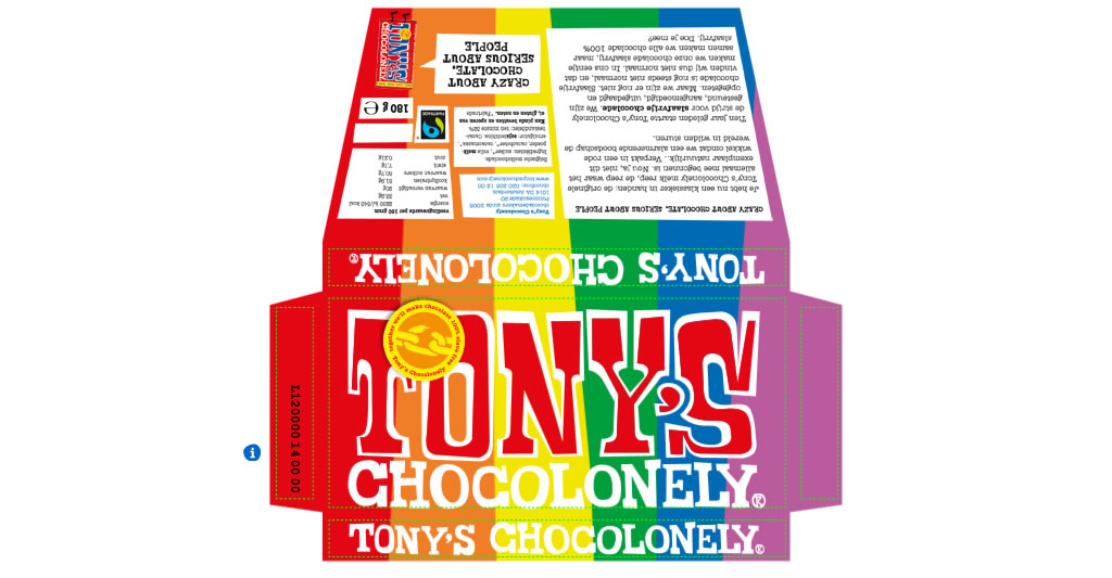 Tony's Chocolonely Create Your Own Wrapper
