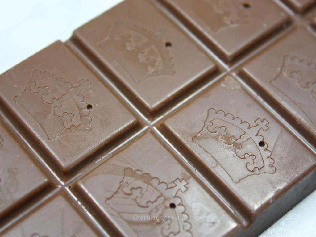 Montezuma's Butter Nutter Milk Chocolate Bar Closeup