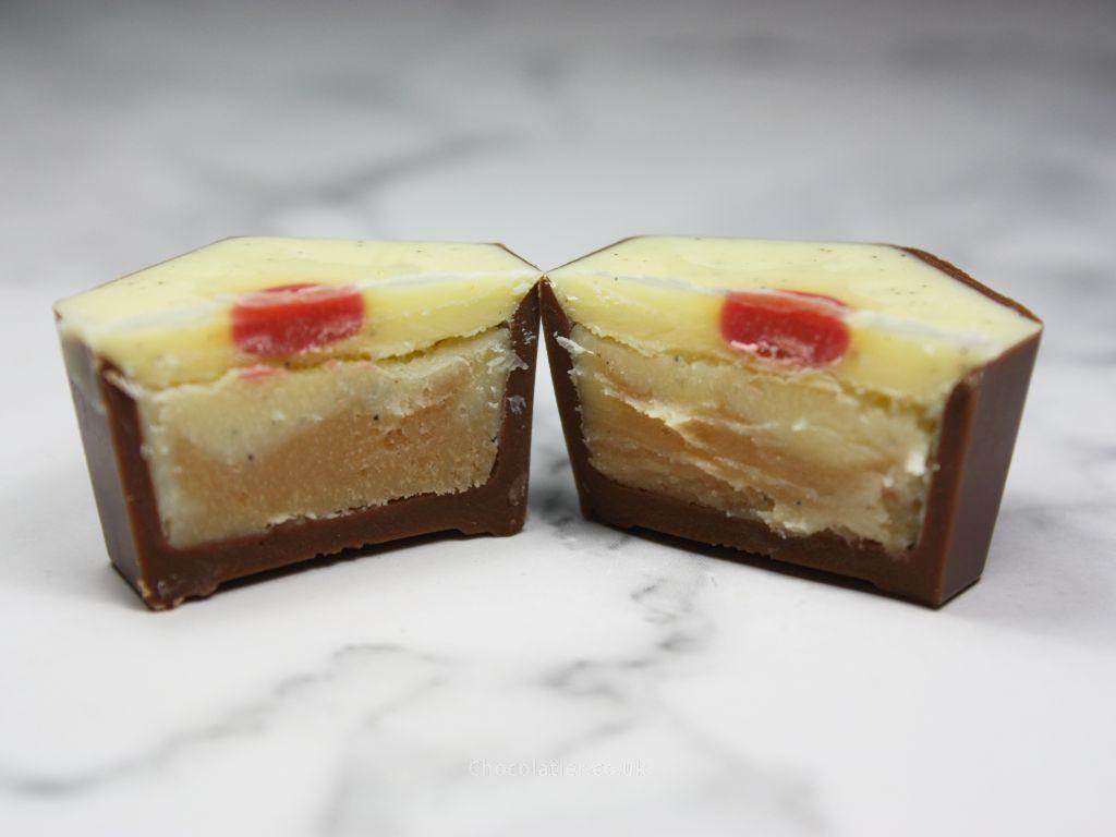 Inside Hotel Chocolat Rhubarb & Custard