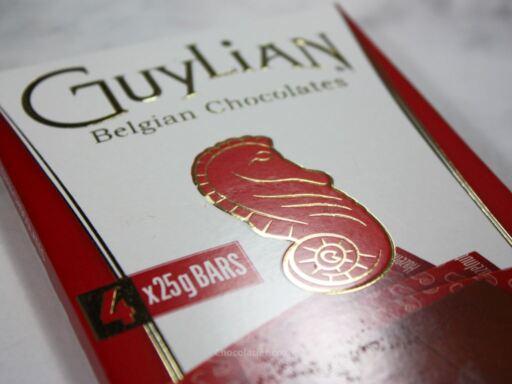 Guylian Hazelnut Milk Chocolate Bars Packaging Closeup