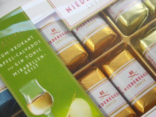 Niederegger Classic Liqueur Collection Box Packaging Closeup