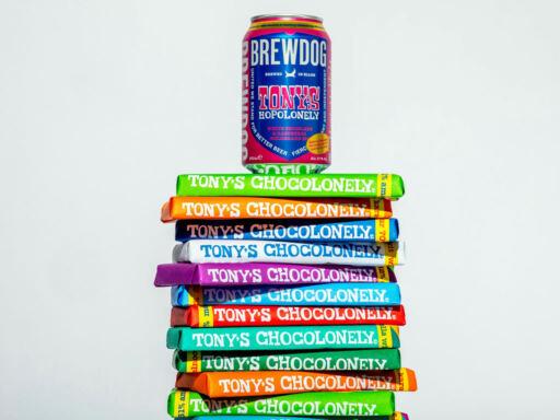 Tony's Chocolonely x BrewDog White Chocolate & Raspberry IPA Beer